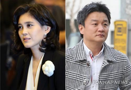 이부진 호텔신라 사장(왼쪽)과 임우재 전 삼성전기 상임고문 [연합뉴스 자료사진]