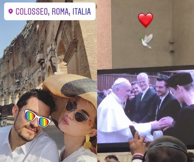 [Oh!llywood] 케이티 페리♥올랜도 블룸, 프란치스코 교황 만났다..결혼 임박?