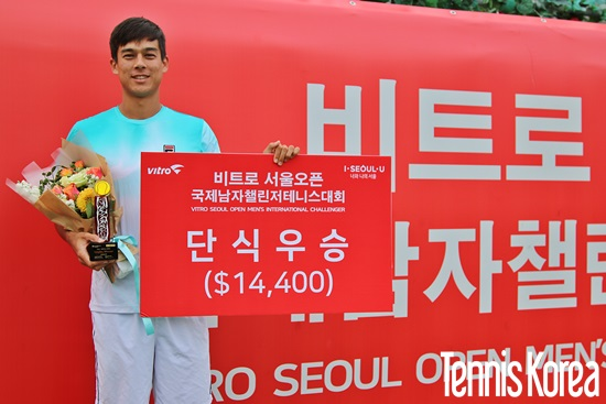 맥도널드가 서울오픈 챌린저 우승을 차지했다. 사진= 이은미 기자