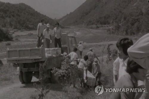 트럭 짐칸에 실려 온 5·18희생자들 관 [5·18민주화운동기록관