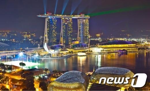 싱가포르 마리나 베이 샌즈 호텔./사진=뉴스1(이라이프투어 제공)