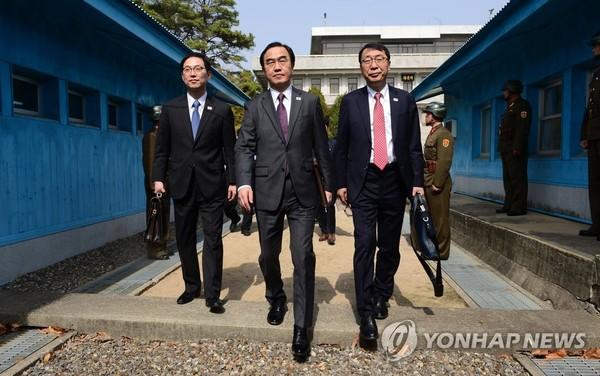 조명균 통일장관 남북고위급회담중지 통보 / 사진=연합뉴스