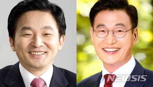 원희룡 41.0 vs 문대림 36.8..제주지사 후보 여론조사