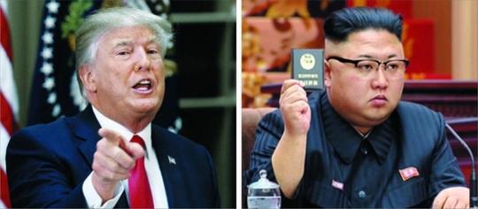 왼쪽부터 도널드 트럼프 미국 대통령과 김정은 북한 국무위원장/조선일보DB