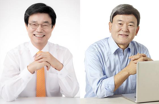 6·13 전국동시지방선거 제주도교육감 선거에 출마한 이석문 예비후보와 김광수 예비후보.(지지도 순)© News1