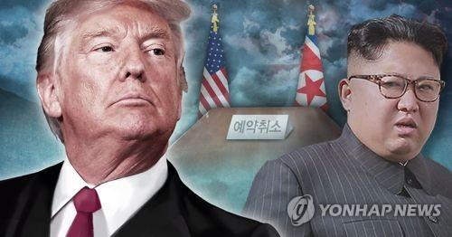 트럼프, 6ㆍ12 북미회담 전격 취소(PG) [제작 이태호] 사진합성, 일러스트