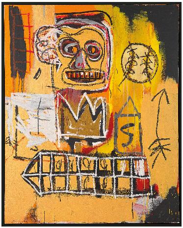 장 미셀 바스키아의 1982년작 무제. 크리스티 아시아에서는 처음 선보인 바스키아의 작품으로 추정가는 6,200만~9,400만 홍콩달러. /사진출처=크리스티 홈페이지