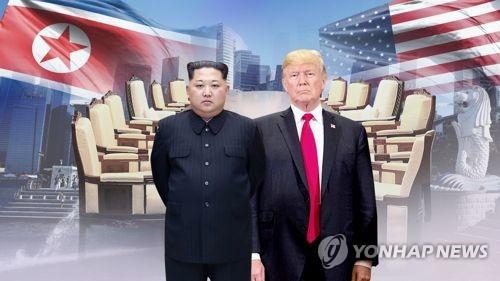트럼프 vs 김정은…엎고 뒤엎는 '세기의 수 대결'(CG) [연합뉴스TV 제공]