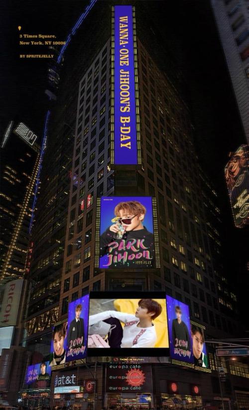 From Seoul To New York City Wanna One Park Jihoon Happy Birthday
