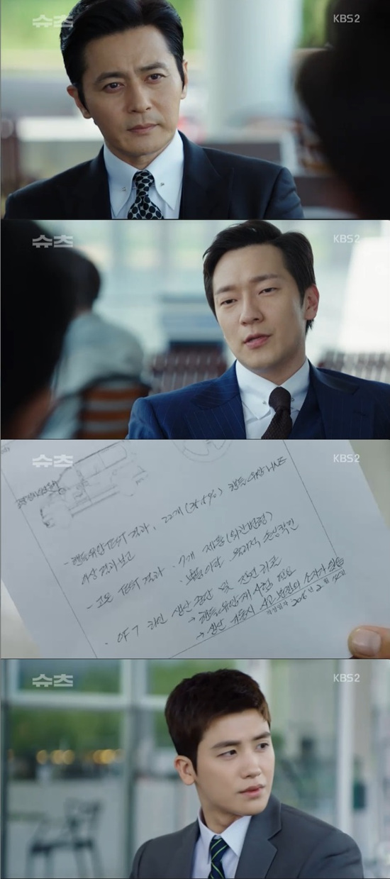 <p>In the 13 times of the KBS 2 TV aqueduct drama Suits broadcasted on the 6 th, a figure appeared in which Chegens lock (Jang Dong-gun minutes) reunites with David (Son Seokgu). On this day the strongest seat two years ago I got a lawsuit for damages from the daughter of the victim Kang Young Ho of the underwriting car accident. We met the deceaseds surrogate along with the strongest seat and Jonu (Park Hyung-sik). David appeared before Chegens lock. I knew that the strongest seat David went to the United States. David offered a business card to inform the solicitors attorney as a legal affair corporation. David talked about car quality control report sliding and saying that it is the next flaw, against the fact that he insisted immature driving of Kang Young Ho two years ago the strongest seat. The strongest seat I was surprised at the appearance of a report I have not seen before. / Photo = KBS Broadcast Screen</p>