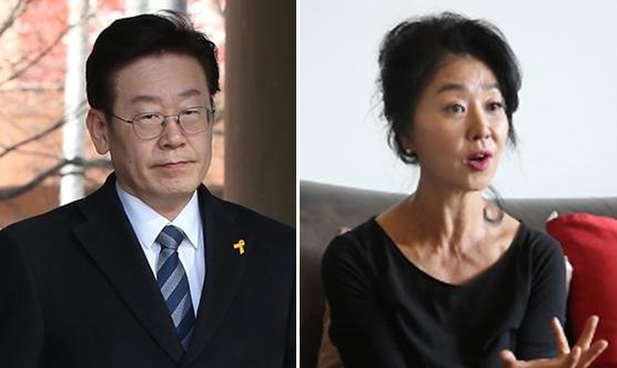 왼쪽부터 이재명 더불어민주당 경기도지사 후보, 배우 김부선. 한겨레 자료사진