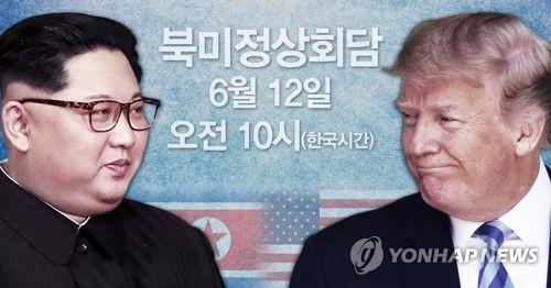 북미정상회담 6월12일 오전 10시(한국시간) 개최 (PG)
