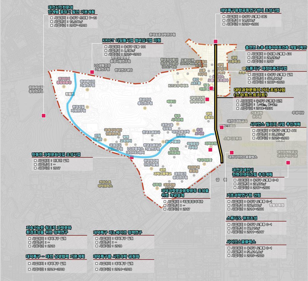 대전 대덕연구단지에 추진되는 테마형 스마트시티 'Re-new 과학마을' 사업계획도. /자료제공=국토교통부