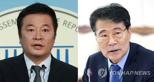 바른미래당 김철근 대변인, 장하성 청와대 정책실장 [연합뉴스DB]