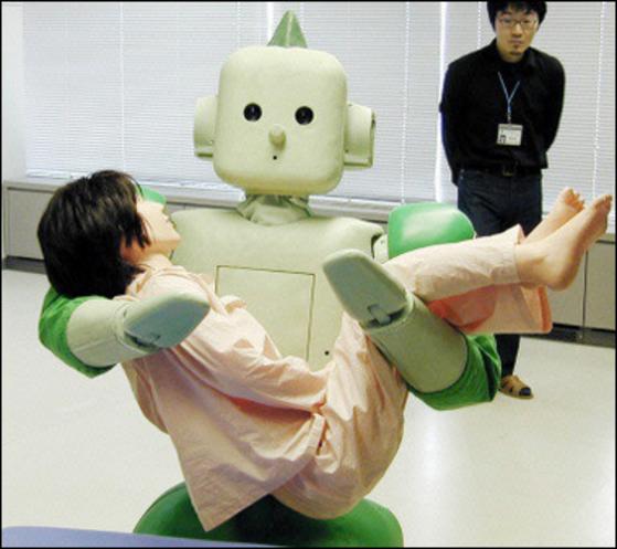 일본의 첨단 간병 로봇.[중앙포토]