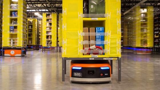 아마존의 물류로봇 '키바' /사진=아마존