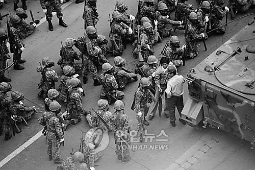 5·18 당시 광주 도심에 투입된 계엄군 병력 [연합뉴스 자료사진]
