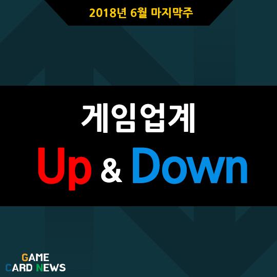 [카드뉴스] 6월 마지막주 게임업계 UP&DOWN #게임 #game