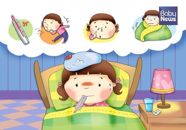 해열제 복용은 38도 이상의 열이 나면서 아이가 힘들어 하면 복용하는 것이 좋습니다. ⓒ베이비뉴스