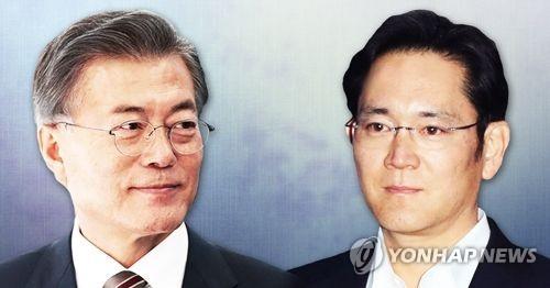 삼성 이재용 부회장 문재인 대통령과 회동할까(PG) [제작 이태호] 사진합성