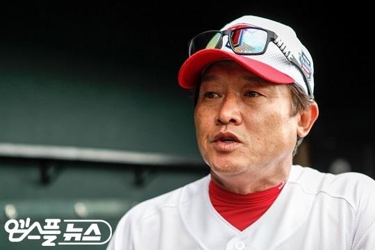 KIA 박흥식 2군 감독은 올 시즌 퓨처스리그 경기에서 젊은 야수 성장에 초점을 맞추고 있다(사진=엠스플뉴스)