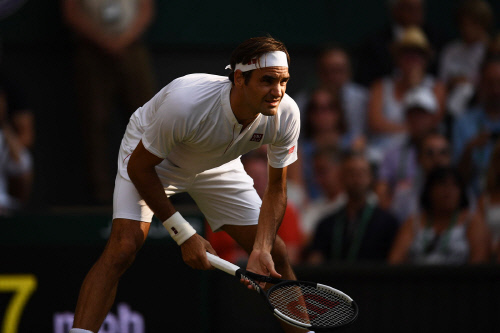 윔블던 9번째 우승을 노리는 로저 페더러. 사진 | 2018 윔블던 테니스 대회 홈페이지