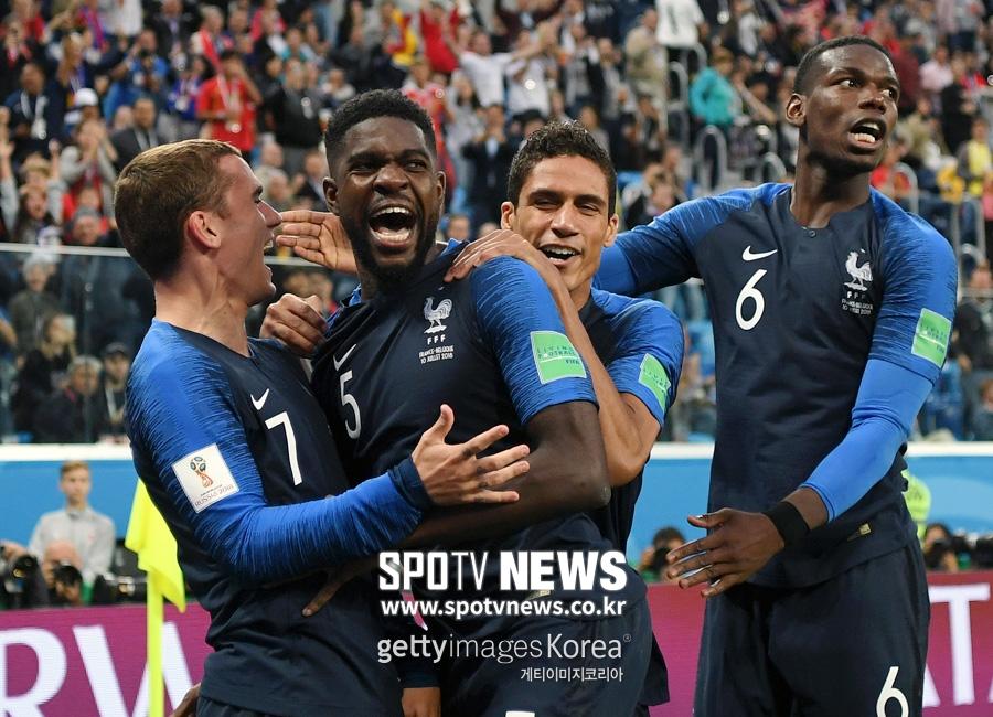 [월드컵 리뷰] '움티티 골' 프랑스, 벨기에 1-0 꺾고 12년 만에 결승 진출