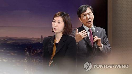 김지은 안희정(CG) [연합뉴스TV 제공]