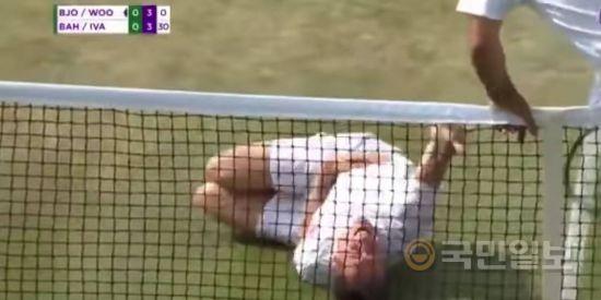 네이마르의 '연기'는 윔블던 테니스대회에서도 패러디됐다. 윔블던 공식 트위터 캡처