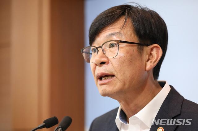 개정 하도급 법령 주요내용 설명하는 김상조 위원장