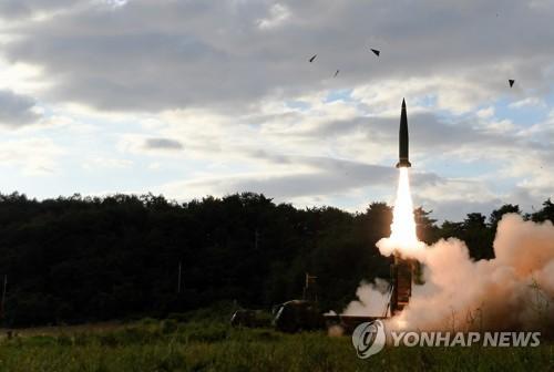 '현무-2' 탄도미사일 실사격 장면 [연합뉴스 자료사진]