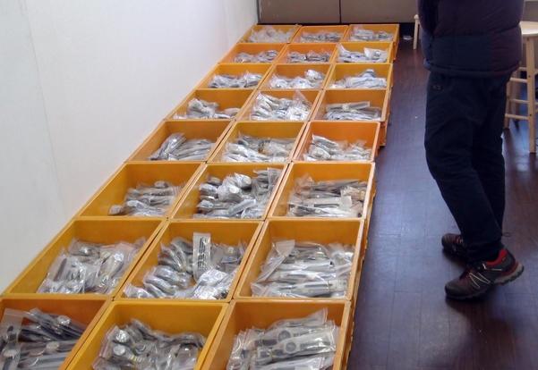 압수된 가짜 명품 시계. 정품은 최소 1000만원에서 억대에 이른다.  /해운대경찰서 제공