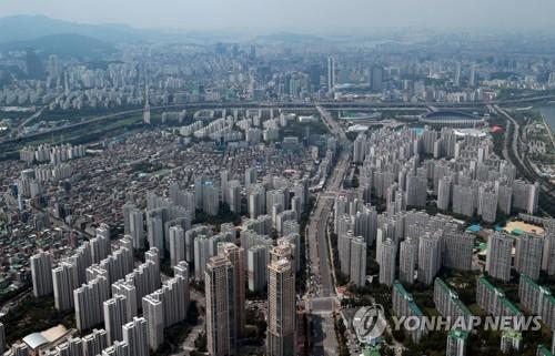서울 송파구 일대 아파트 전경 [연합뉴스 자료사진]