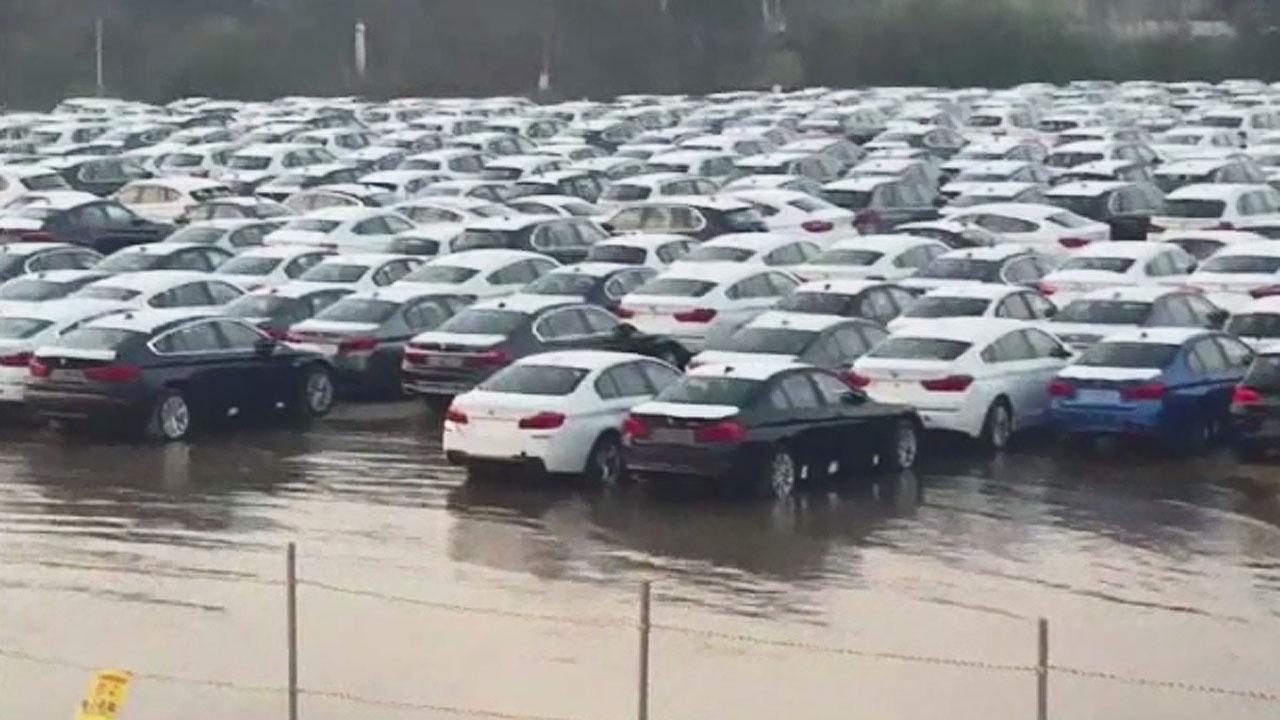 차량 야적장에 밀려든 바닷물..BMW, 침수차량 판매 논란