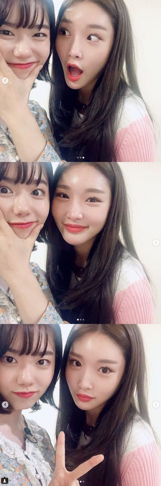 <p>As I was born from Group I.O.I (I.O. I) I was proud of my friendship as usual.</p><p>On September 27, Qing River posted three photos along with his sentence This is always beautiful to support us.</p><p>I am gazing at Camera with Kim So-hye transformed into a single-shot seeking out in publicly released photographs. They bring out laughter when trying to take a pose with expressions full of playfulness as well as refreshing expression. Their unchanged friendship brought warmth to the fans.</p><p>On the other hand, Kim So-hye appeared in the cable TV Mnet Produce 101 season 1, finally debuted in the debut group selection, I.O.I and worked and received many love.</p>