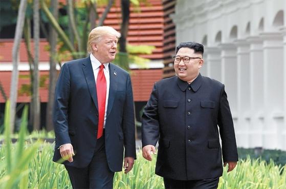 미국 트럼프 대통령과 북한 김정은 국무위원장 [연합뉴스]