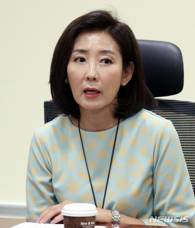 【서울=뉴시스】박영태 기자 = 나경원 자유한국당 의원. 2018.08.17.since1999@newsis.com