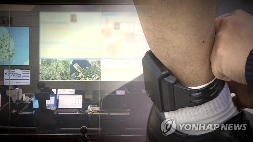 전자발찌 보호감찰(CG) [연합뉴스TV 제공]