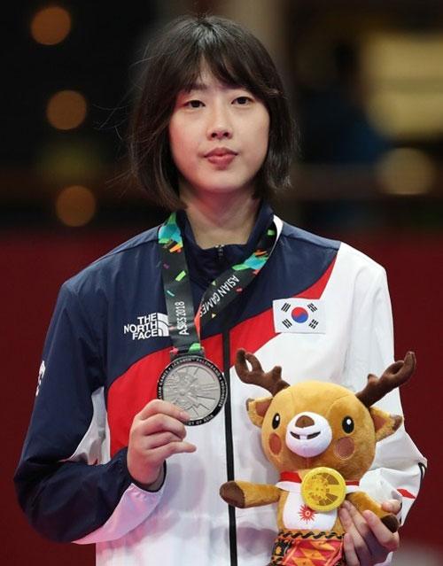 2018 자카르타-팔렘방 아시안게임 태권도 여자 57kg급에서 은메달을 획득한 이아름