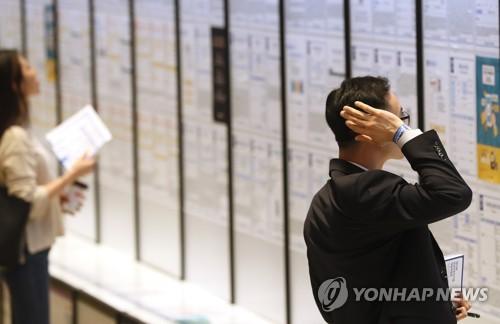 일자리 쇼크…지난 6월 열린 한 채용박람회 [연합뉴스 자료사진]