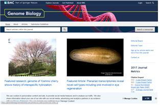 '게놈 바이올로지' 홈페이지에 소개된 제주도 자생 왕벚나무 관련 논문 [사진 국립수목원]