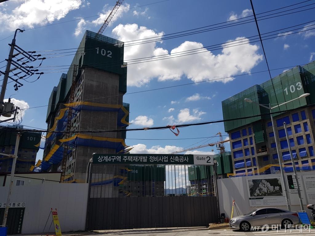 상계뉴타운 4구역에 들어서는 상계역푸르지오 단지 건설 현장. /사진=유엄식 기자