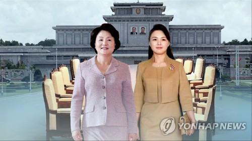 짧았던 첫만남…남북 퍼스트레이디 평양에선 본격 친교 (CG) [연합뉴스TV 제공]
