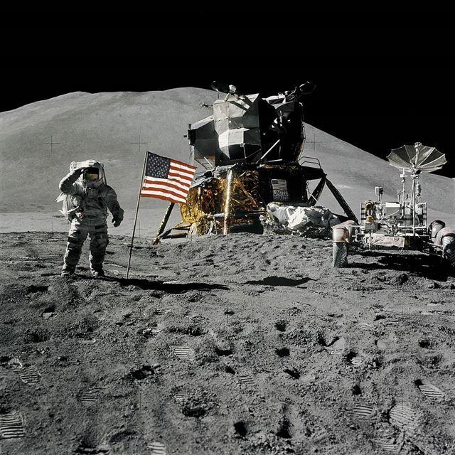 달 착륙 모습을 촬영한 사진. 미국항공우주국(NASA) 제공