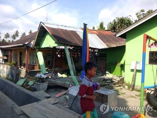 규모 7.5 지진이 강타한 인도네시아 술라웨시 [EPA=연합뉴스]