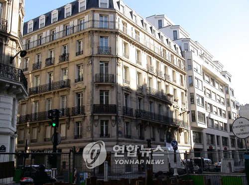 대한민국 임시정부 파리위원부가 있던 프랑스 파리 시내 건물   [연합뉴스 자료사진]
