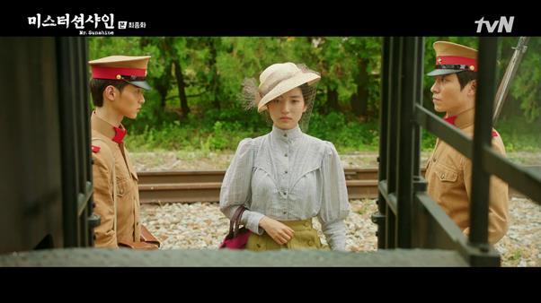 '미스터 션샤인' 김태리의 패션 스타일이 화제다. tvN 방송 캡처