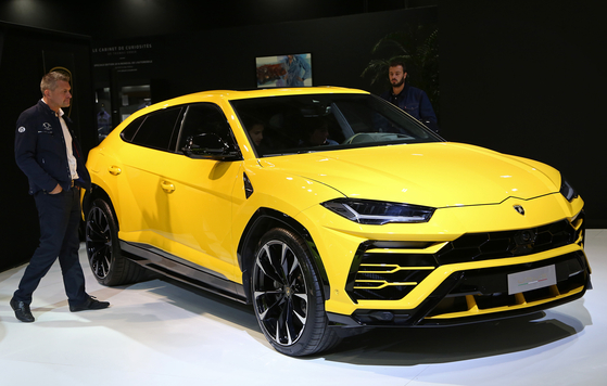 람보르기니의 첫 SUV 우루스. 최고속도 305km로 세계에서 가장 빠른 SUV 모델이다. [UPI=연합뉴스]