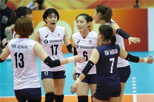 한국 여자배구대표팀 [국제배구연맹 홈페이지 캡처]