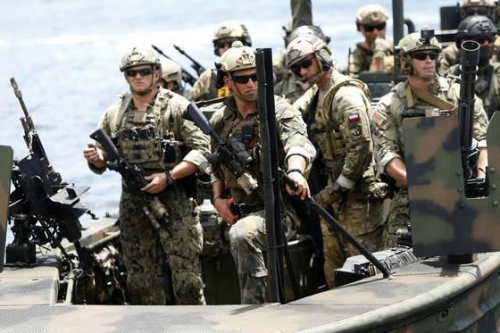 지난 5월 특수작전 훈련 참여 이후 미 본토에 귀환하는 미군. [AFP=연합뉴스]